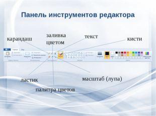 Панель инструментов редактора кисти