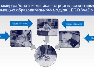 Пример работы школьника – строительство танка с помощью образовательного моду