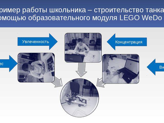 Пример работы школьника – строительство танка с помощью образовательного моду...