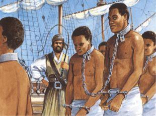 Через 12 лет в Джеймстаун привезли первых чернокожих невольников для работы н