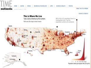 Средняя плотность населения США гораздо ниже, чем во многих экономически разв