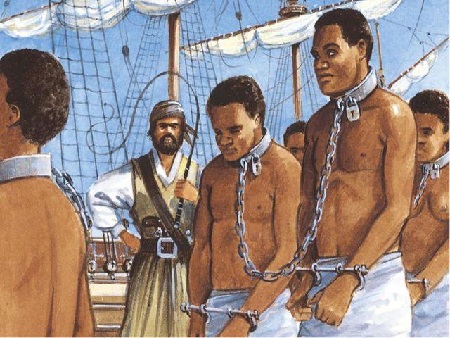 Через 12 лет в Джеймстаун привезли первых чернокожих невольников для работы н...