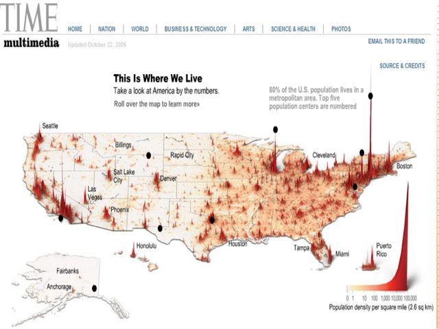 Средняя плотность населения США гораздо ниже, чем во многих экономически разв...