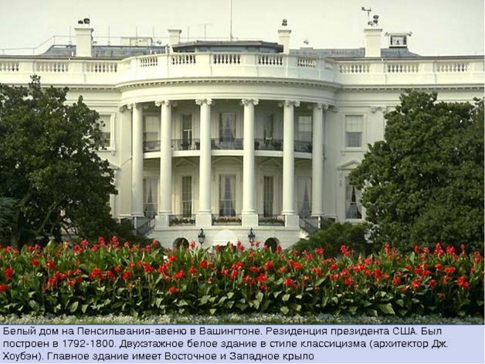 Столица США Вашингтон