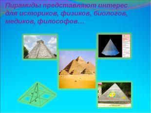 Пирамиды представляют интерес для историков, физиков, биологов, медиков, фило
