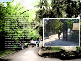 Lipki Park was established 181 years ago, and today it is the oldest park in