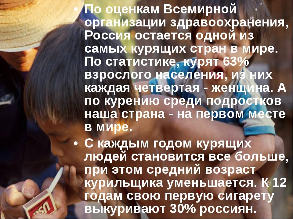 Copyright 2007 П.А.Шавенков По оценкам Всемирной организации здравоохранения,...