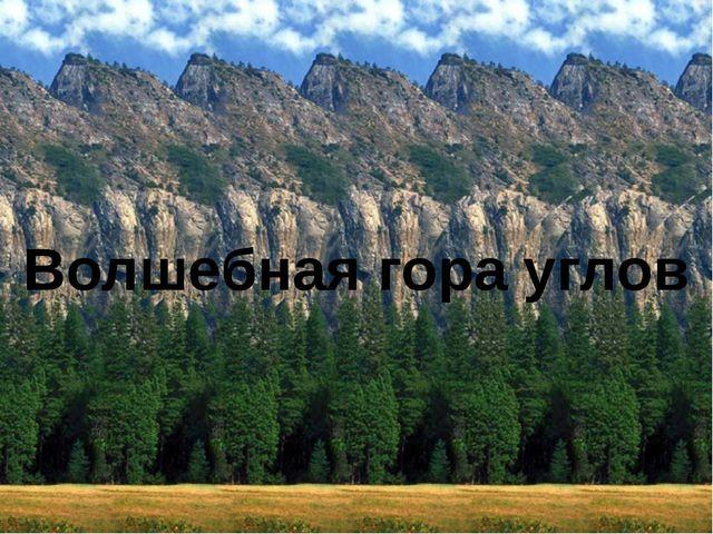 Волшебная гора углов