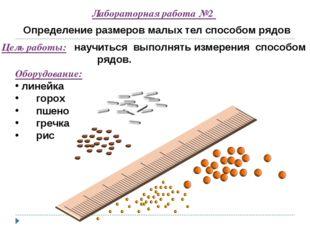 Лабораторная работа №2 Определение размеров малых тел способом рядов Цель раб