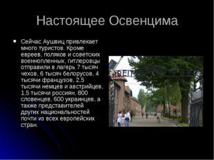 Настоящее Освенцима Сейчас Аушвиц привлекает много туристов. Кроме евреев, по