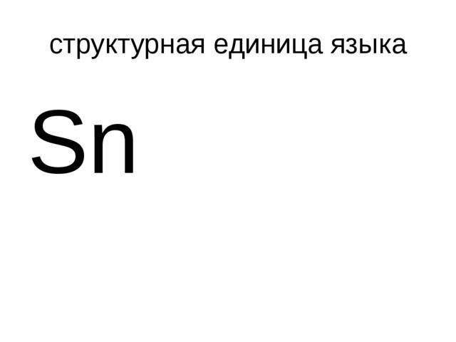 структурная единица языка Sn