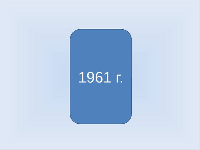 Первый полёт человека в космос 1961 г.