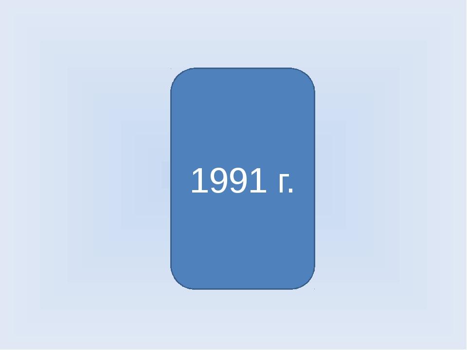 Распад Советского Союза 1991 г.