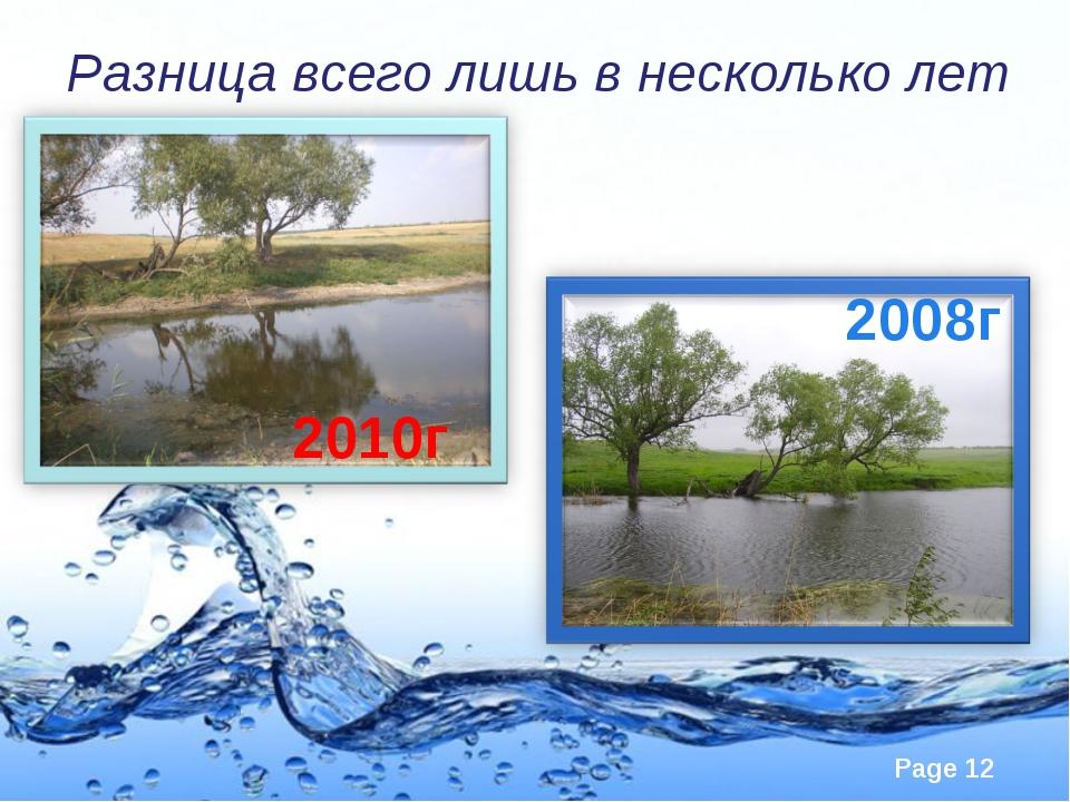 Разница всего лишь в несколько лет 2010г 2008г Page *