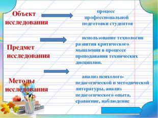 процесс профессиональной подготовки студентов использование технологии разви
