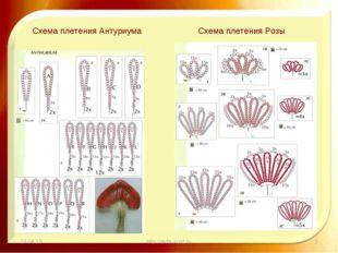 * http://aida.ucoz.ru * Схема плетения Антуриума Схема плетения Розы http://a