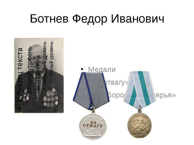 Ботнев Федор Иванович Медали «За отвагу» «За оборону Заполярья»