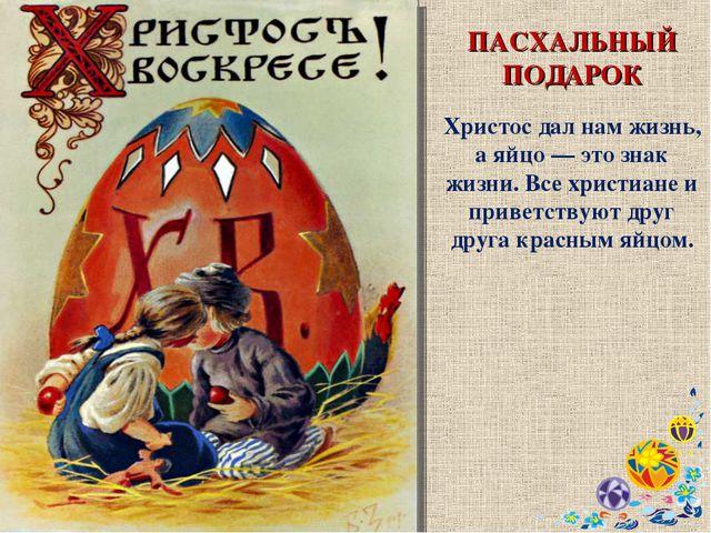 ПАСХАЛЬНЫЙ ПОДАРОК Христос дал нам жизнь, а яйцо — это знак жизни. Все христи...