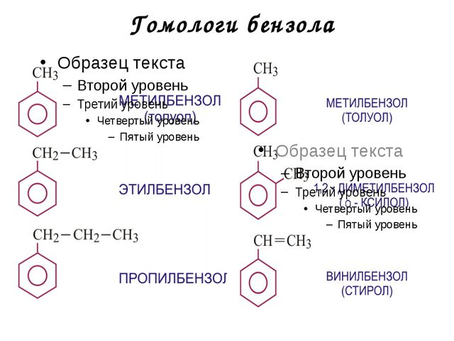 Гомологи бензола