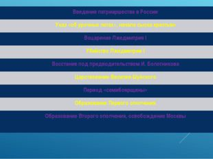 Введение патриаршества в России Указ «об урочных летах», начало сыска кресть