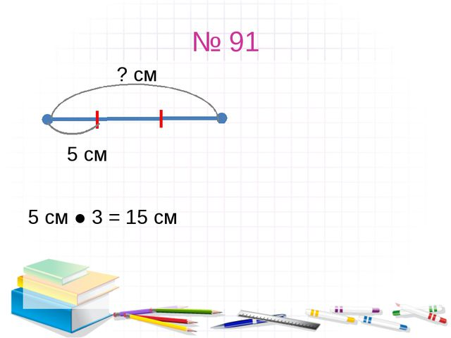 № 91 ? см 5 см 5 см ● 3 = 15 см