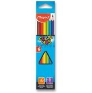 Карандаши цветные Maped Color'Peps из липы треугольные ударопрочный грифель в картонном футляре 6 цв купить по Убойной Цене + об