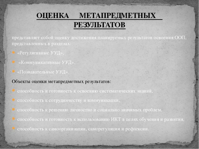представляет собой оценку достижения планируемых результатов освоения ООП, пр...