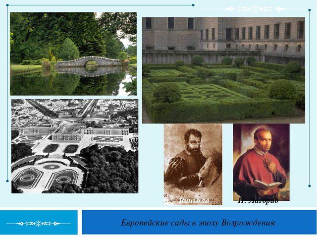 Европейские сады в эпоху Возрождения Виньола П. Лагорио