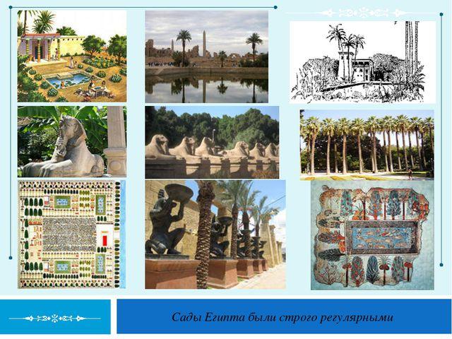 Сады Египта были строго регулярными
