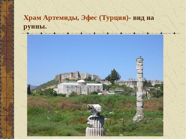 Храм Артемиды, Эфес (Турция)- вид на руины.