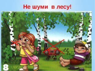 Не шуми в лесу! Не шумите в лесу. У леса музыка своя… её послушайте друзья! В
