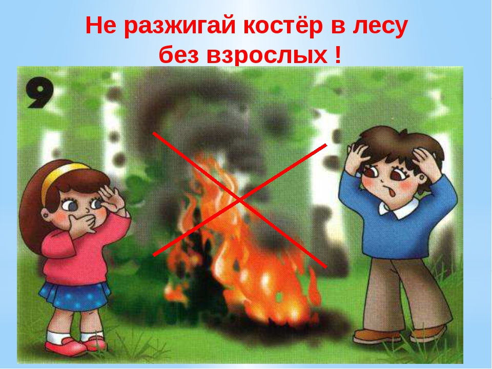 Не разжигай костёр в лесу без взрослых ! Не разжигай костёр в лесу без взросл...
