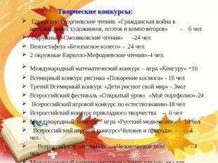 Творческие конкурсы: Городские Георгиевские чтения. «Гражданская война в прои