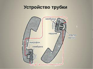 Устройство трубки