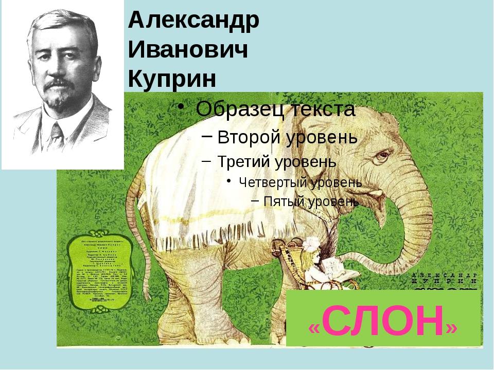 «СЛОН» Александр Иванович Куприн Презентация к открытому уроку литер. чтения....