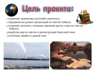 - сохранение эндемичных растений и животных; - сотрудничество разных организа