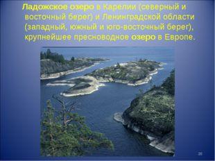 Ладожское озеро в Карелии (северный и восточный берег) и Ленинградской област