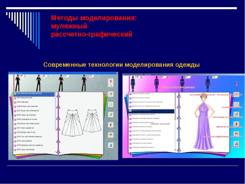 Методы моделирования: муляжный рассчетно-графический Современные технологии...