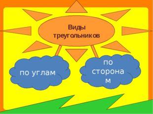 по углам по сторонам Виды треугольников