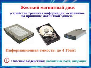 устройство хранения информации, основанное на принципе магнитной записи. Жес