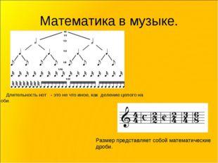 Математика в музыке. Длительность нот - это не что иное, как деление целого н