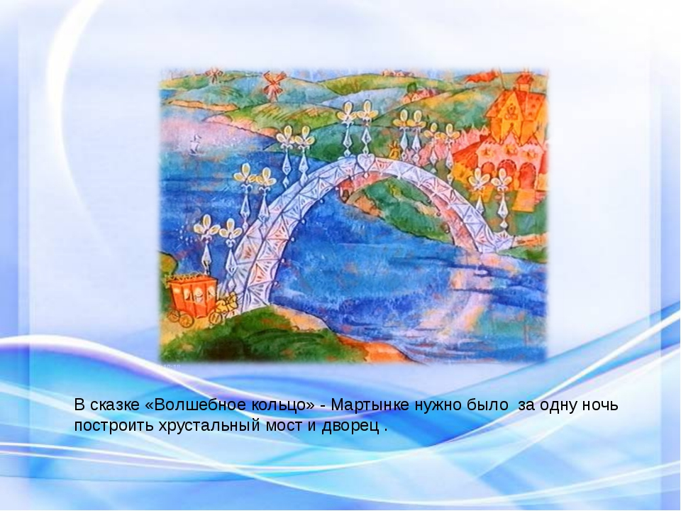В сказке «Волшебное кольцо» - Мартынке нужно было за одну ночь построить хрус...
