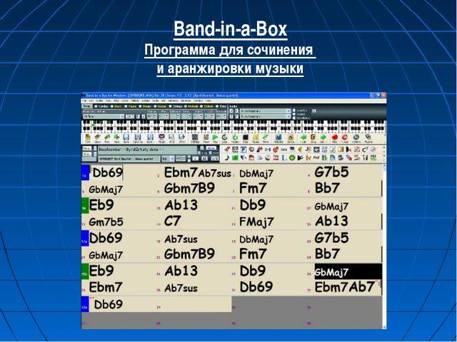 Band-in-a-Box Программа для сочинения и аранжировки музыки