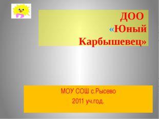 ДОО «Юный Карбышевец» МОУ СОШ с.Рысево 2011 уч.год.