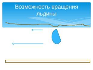 Возможность вращения льдины