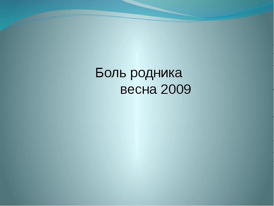 Боль родника весна 2009