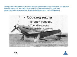 Як Официальное название этого советского истребителя могло обозначать неспеш