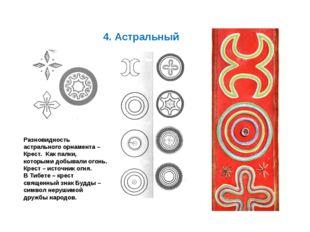 4. Астральный Разновидность астрального орнамента – Крест. Как палки, которы