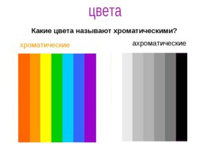 хроматические ахроматические Какие цвета называют хроматическими?