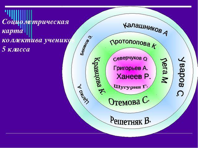 Социометрическая карта коллектива учеников 5 класса
